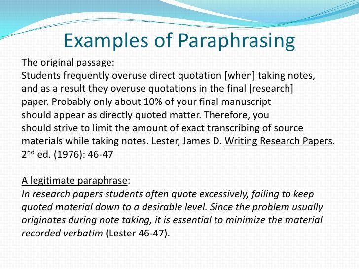 Professional Way To Dissertation Paraphrasing Tool Rhetorical Analysi Essay Informative Writing How Paraphrase And Cite Apa
