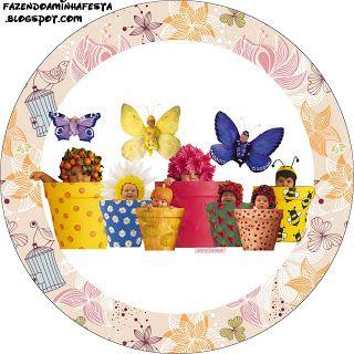 Etiquetas para imprimir gratis de Bebés de Anne Geddes Primavera.
