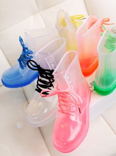 Doc marten style clear jelly boots from fashionpenny. All I think about is the mean blisters one will get if they wear these. And not to mention how ugly they are. Lol #JellyShoesAesthetic