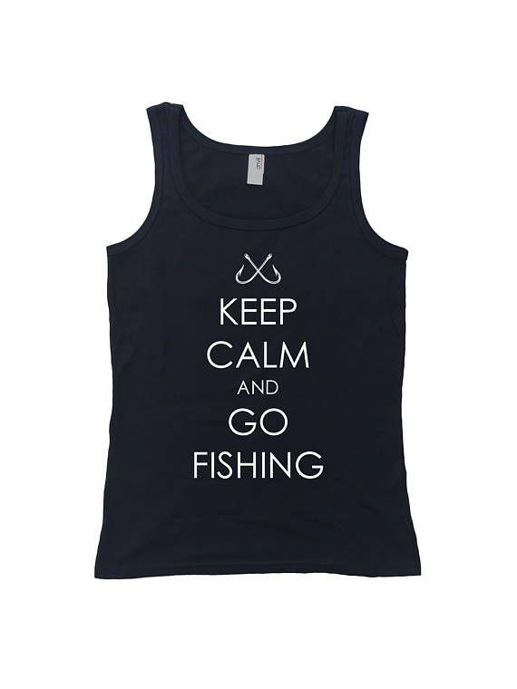 Keep Calm And Go Fishing Womens Tank Top Fisherman Fishing
