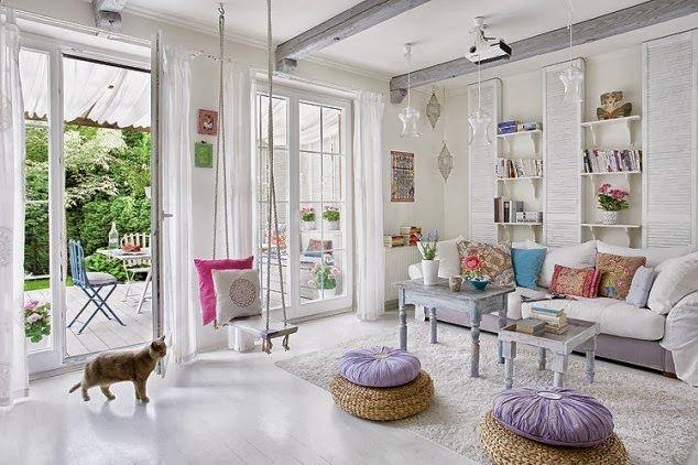 Home Shabby Home:Un living dai colori pastello