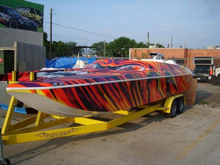 Vinyl Boat Wrap #boat #Wraps #AutoWraps #VinylCarWrapping #custom #customdesign