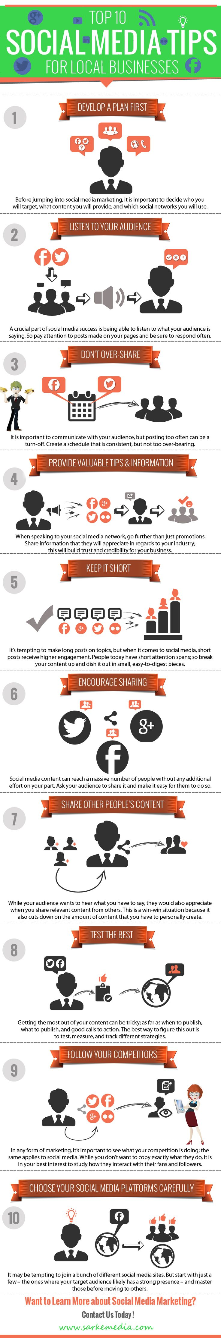 Top 10 social media tips for local business (or any business).
