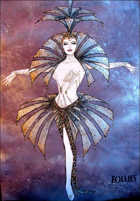 Costume design sketch by 2012 Tony Award nominee Gregg Barnes for Follies.