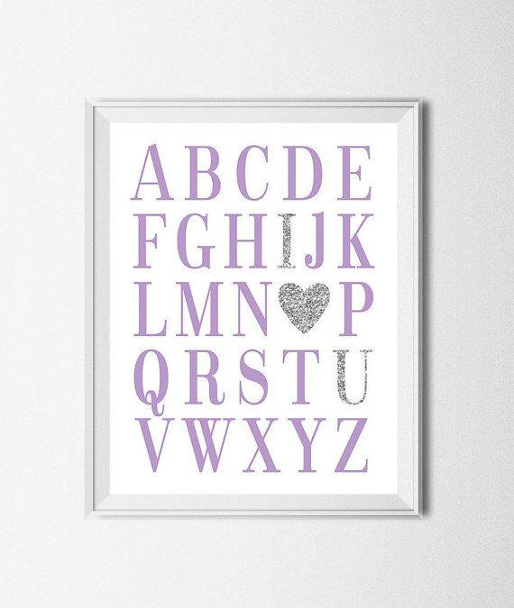 Buy 1 Get 1 Free ABC Print Digital Nursery by EllenPrintable