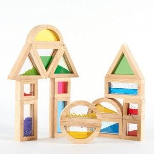 Sensory Rainbow Blocks Set of 24 - Educational Wooden Toys for Kids - These beautiful hardwood blocks with coloured acrylic centres are a wonderful inclusion to any block play area. #sensoryblocks #sensory #blocks #kidstoys #1stbirthday #christening #learningaids #teachingaids #toys #kidstoys #woodentoys #colourfultoys #xmas #xmasgifts #kidslearning