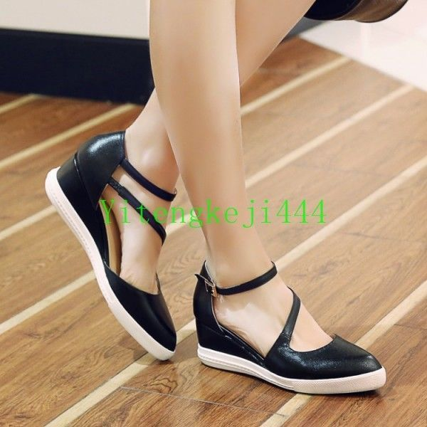 Womens Sport Sandals Mid Wedge Shoes Chic Leather Sneakers Oxfords Boots Hot