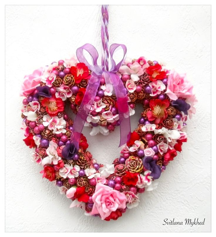 """Couronne en forme de coeur """"Celine"""". Déco mariage. Couronne décorative. Couronne porte d'entrée : Accessoires de maison par perles-et-couronnes"""
