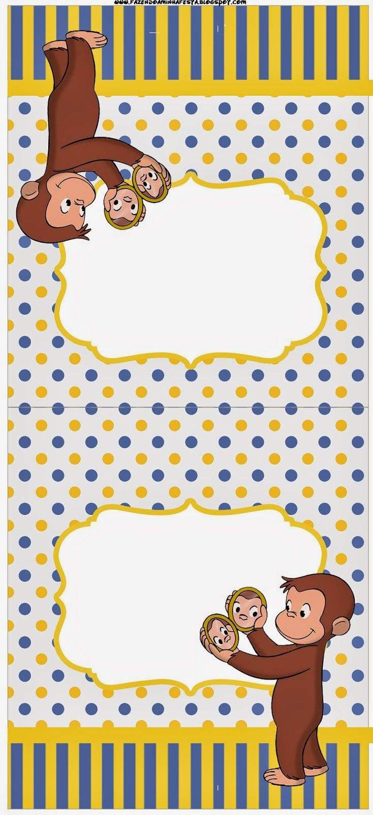 Curious George Free Party Printables. - Is it for PARTIES? Is it FREE? Is it CUTE? Has QUALITY? It´s HERE! Oh My Fiesta!