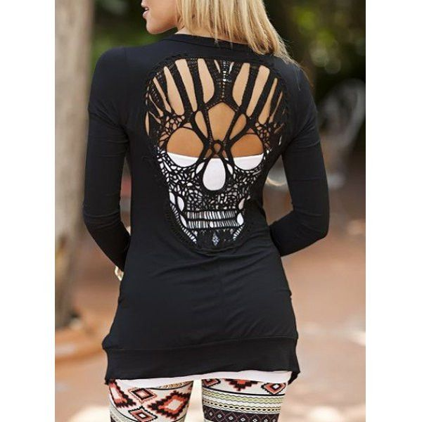 HAPPY HALLOWEEN! This is your Halloween shirt! Get your skulls on! Product Details Material Spandex Sleeve Length Full Collar Scoop Neck Style Fashion Pattern Type Solid Weight 0.37KG Package Contents