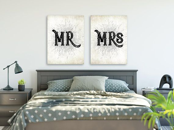 Mr and Mrs Sign, Mr and Mrs Wall Decor, Mr and Mrs Wall Sign ...