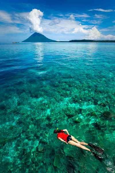 Isla de Bunaken, perteneciente al Parque Marino Nacional de Buneka, al norte de Sulawesi, Indonesia.