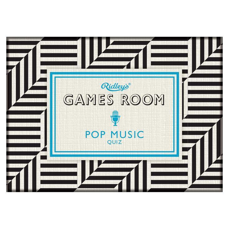 Ridley's Pop Music Quiz design by Wild & Wolf