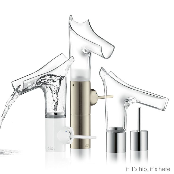 Wild New Transparent Glass Water Faucets From Hansgrohe – The Axor Starck V Collection.
