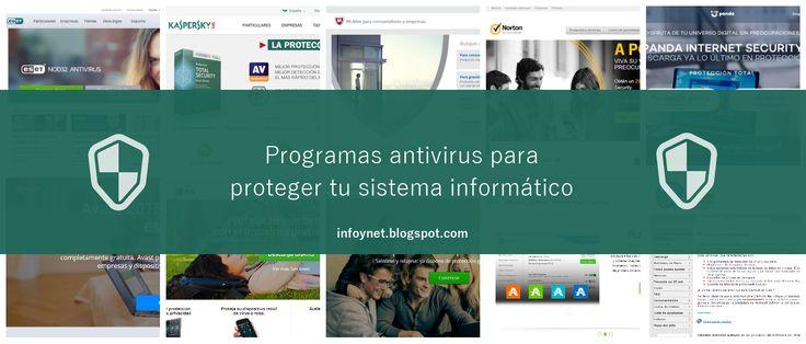 10 programas antivirus para proteger tu sistema informático