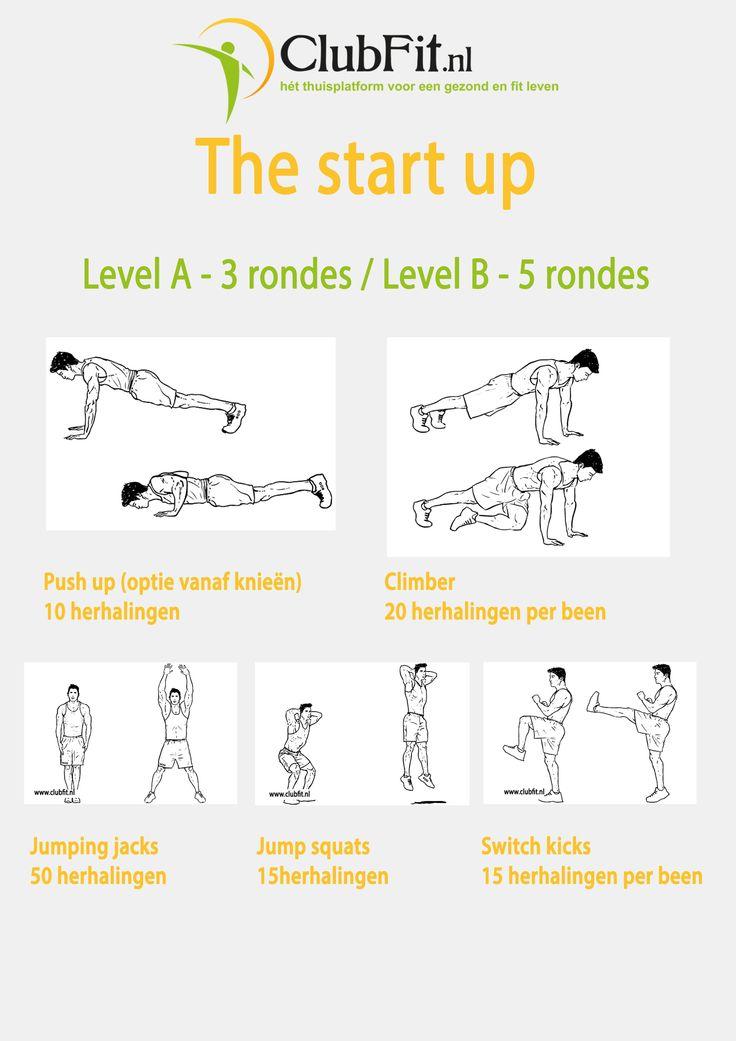een lekkere workout voor beginners om thuis te gaan doen. Sportkleding aan en gaan!