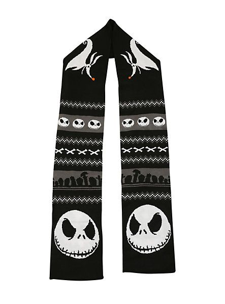 The Nightmare Before Christmas Fair Isle Knit Scarf | Hot Topic