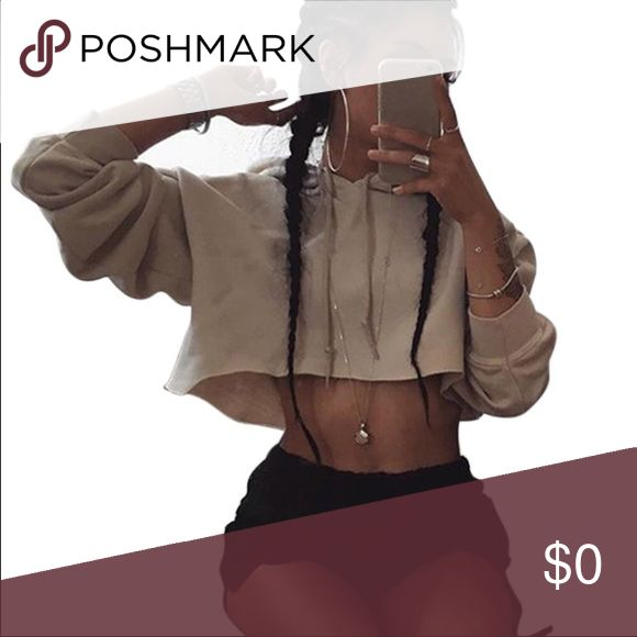 Coming soon⚜️Women hoodie crop top Women Cortada Hoodies Cut Out Halter Hooded Crop Top Tracksuits Casual Short Pullovers Sweatshirts⚜️already almost sold out on the website... only one left... more shipment to come soon... website price going for $25 per hoodie... will model as soon as shipment arrive. Tops Crop Tops
