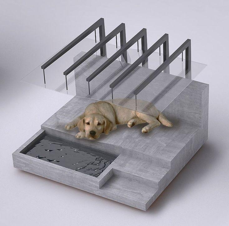 "Image 4 of 12 from gallery of Zaha Hadid Architects Among 80 Designers to Create Dog Houses for UK Pet Charity. The ""Bark-alona Pavilion"" - Jia-hao Syu, Design Haus Liberty © 2017, Jia-hao Syu, Design Haus Liberty. Image via BowWow Haus London #dogsstuffforapartment"