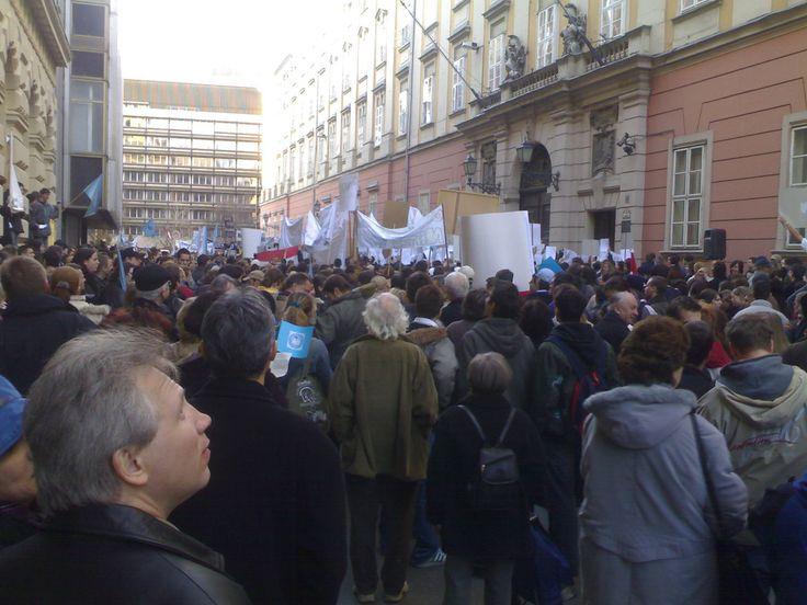 Demonstration, Budapest