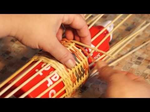 How I paint newspaper tubes. Three year experience. Part 1. - YouTube