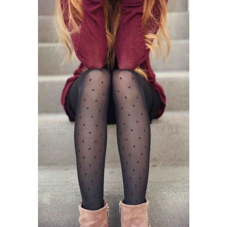 Sheer Dot Compression Pantyhose. Knit with hidden graduated compression for added health & beauty benefits.