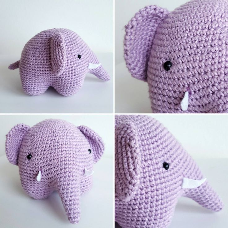 See how you can create this cute Purple Elephant in crochet. Simple tutorial. #diy #easydiy #crochet