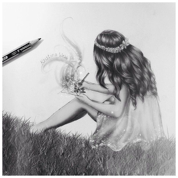 Kristina Webb! A drawing of herself