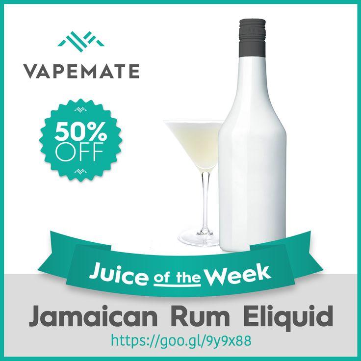 Yeah mon! Juice of the Week is Jamaican Rum #Eliquid. 50% off this week only. https://www.vapemate.co.uk/eliquid/vapemate-jamaican-rum-eliquid.html