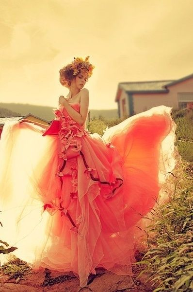 .: Dresses Wedding, Wedding Dressses, Color, Girls Photography, Beautiful, Pink, Prom Dresses, Fashion Photography, The Dresses