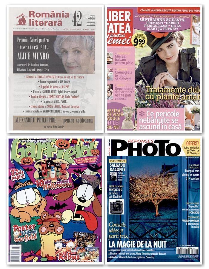 Libertatea pentru Femei, Click pentru Femei, Romania Literara, Formula As, Photo (Franta) sau Science & Vie (Franta) intre revistele noi de maine.  Lista completa o gasiti aici: http://inmedio.ro/blog/reviste-noi-18-octombrie/