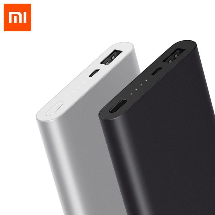 Original Xiaomi banco de energía 10000mAh 2 Soporte de batería externa portátil 18W Carga rápida para teléfonos móviles Samsung Iphone tablets free shipping worldwide