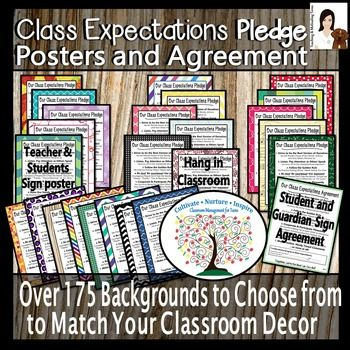 Editable. Clear expectations understood by and agreed to by all can be a powerful classroom management tool. With this collection, you'll get a solid start off to your year and receive a class expectations poster for your classroom and an agreement for students and guardians to sign.