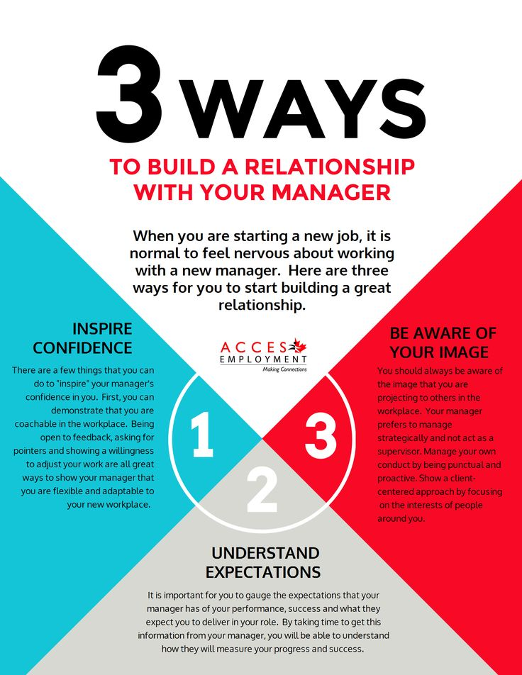 3 ways to build a relationship with your manager