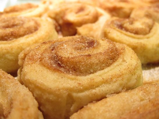 cinnamon twist made from leftover pie crust dough. All you need is left over pie crust, butter, cinnamon, and sugar.  Roll out, butter, sprinkle sugar and cinnamon. Roll up, cut into pieces, and bake at 400 for 10-15 minutes.  Children will love to snack on these.
