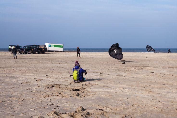 Powerkiters in actie op het strand!