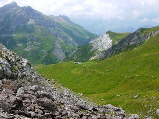 Scenery between the Col du Bonhomme and the Col de la Croix on the Tour du Mont Blanc