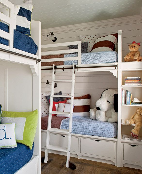 242 best Beach House Bunk Rooms images on Pinterest   Bunk rooms ...