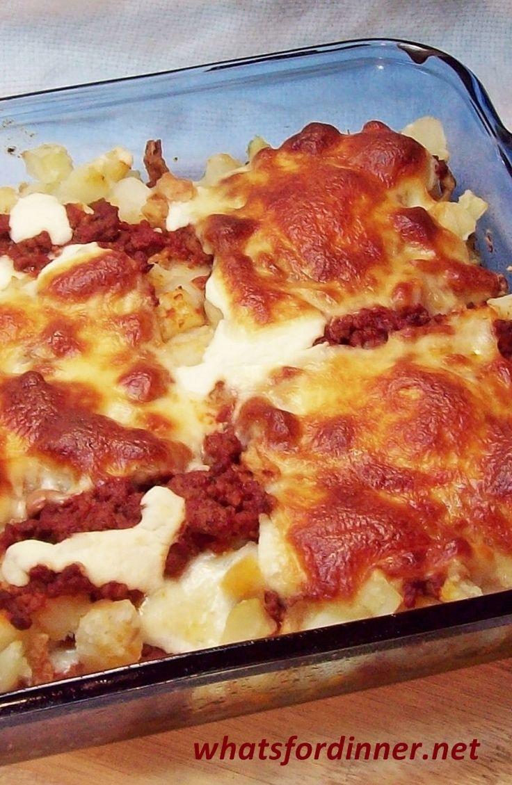 What S For Dinner Potato Lasagna Recipe Potato Lasagna Food Cooking Recipes