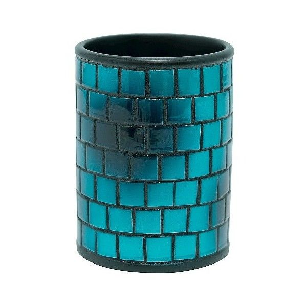 Ombre Boxed Tumbler, Bathroom Tumbler ($9.49) ❤ liked on Polyvore featuring home, bed & bath, bath, bath accessories and ombre