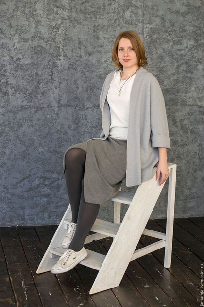 Пиджаки, жакеты ручной работы. Заказать Кардиган вязаный серый. LAMA MIA丨Вязание на заказ. Ярмарка Мастеров. Кардиган вязаный, arria