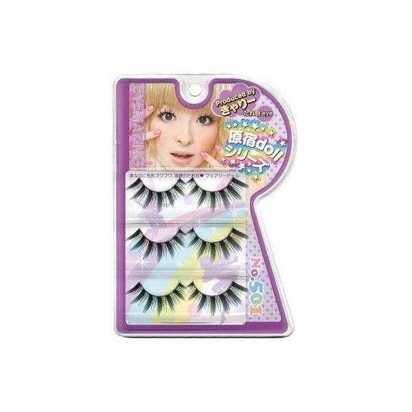New Tsukema Harajuku Kyary Pamyu Pamyu Eyemazing No.501 False... ❤ liked on Polyvore featuring beauty products, makeup, eye makeup, false eyelashes, beauty, fillers, accessories and eyes