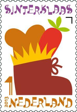 Sinterklaaspostzegels 2013: Schoen zetten