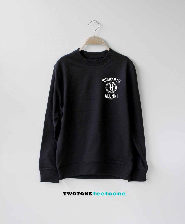 Hogwarts Alumni Shirt Harry Potter Sweatshirt Sweater Unisex by TwoToneTeeToOne on Etsy https://www.etsy.com/uk/listing/250363414/hogwarts-alumni-shirt-harry-potter