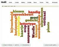 Woordkunst maken met Wordle met woorden uit het woordpakket