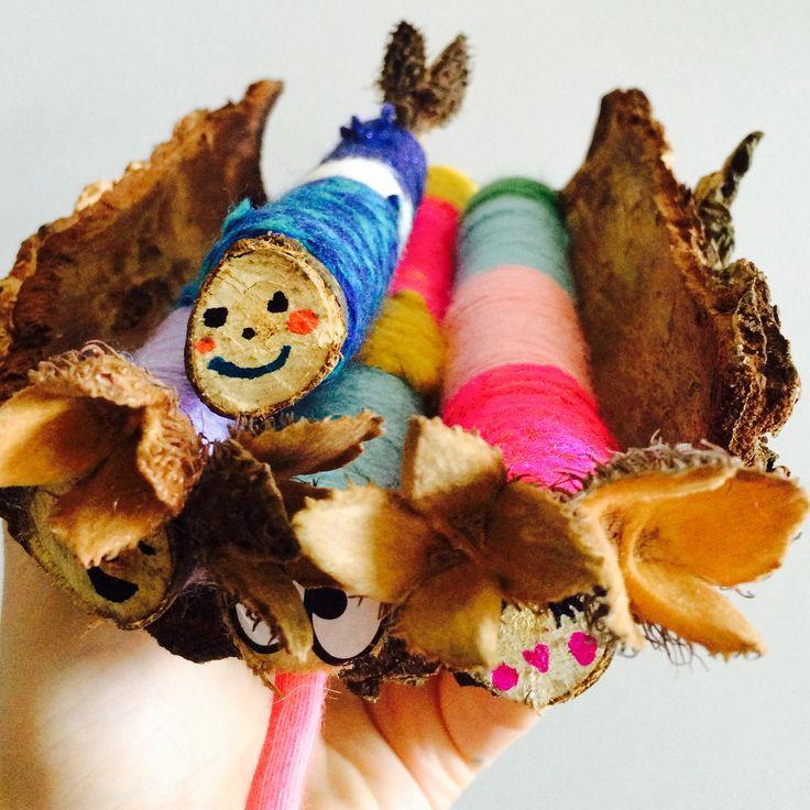 #yarnbomb #stick #creatures #kidsthatcraft #craftmakeplay #bark #wool https://m.facebook.com/craftmakeplayworkshops/
