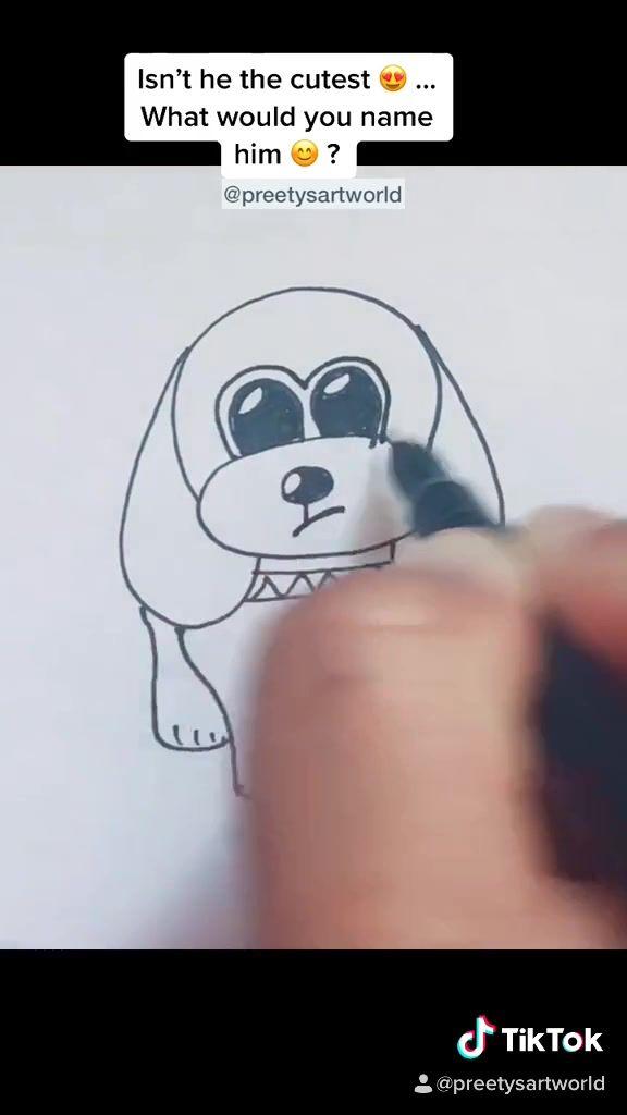 Pin By Preety S Art World On Random Art Tutorials Art Tips Art Hacks Easy Drawings Simple Art Dog Drawing