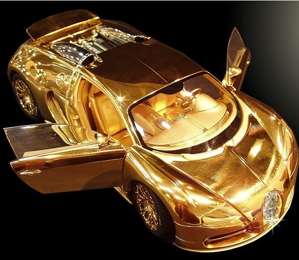 Most expensive model car. Worth 2 million pounds, with 24 carat solid gold and 7.2 carat diamond on front grill. This is only 10 inches in size !