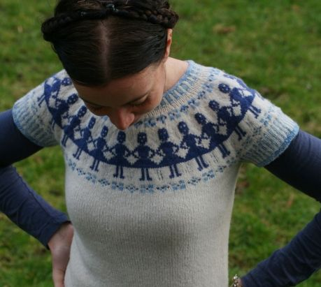 Kate Davies paper doll sweater