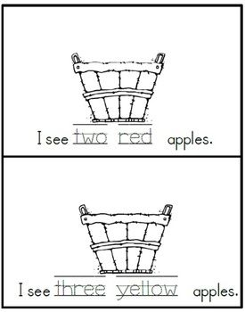 Apples in the Basket Book...free tpt: Apples Booklet, Class Books, Tpt Freebies, Books Fre Tpt, Thumb Prints, Baskets Books Fre, Numbers Words, Kindergarten Drawings Ideas, Kindergarten Apples
